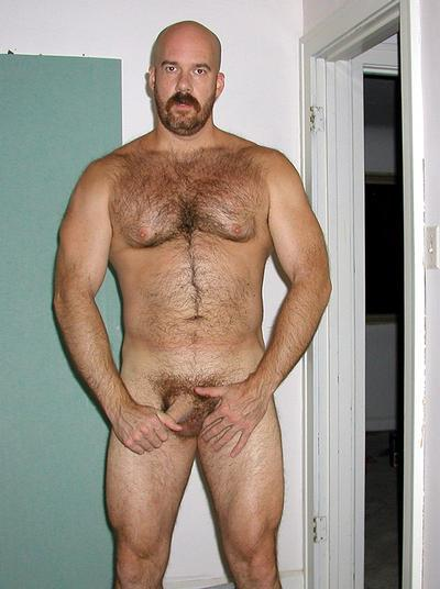 Hairy chest jock with